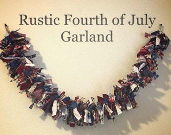 Rustic Patriotic Garland