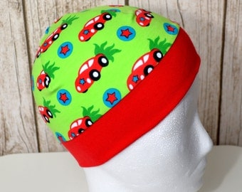 """Great handmade hat """"red cars"""""""