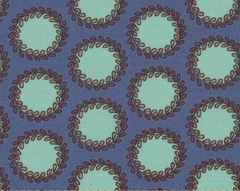HALF METRE Amy Butler Soul Blossoms - Bliss Laurel Dots in Periwinkle