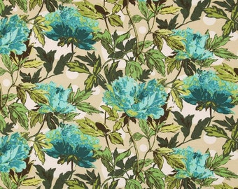 HALF METRE Amy Butler Soul Blossoms - Bliss Twilight Peony in Azure