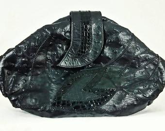 Vintage Handbag  Leather Clutch Purse