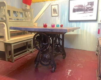 Industrial Table With Machinery Base