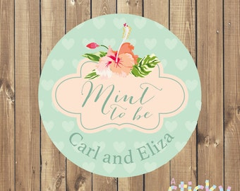 Personalized Mint to Be Stickers, Personalized Wedding Stickers, Wedding Labels, Wedding Favour Stickers, Custom Stickers, Wedding Ideas