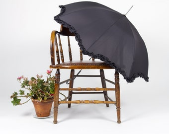 Vintage midnight Black umbrella