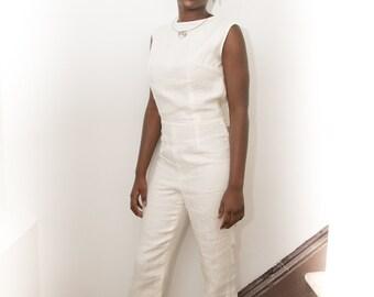 Ty'Tiana Linen Sleeveless Jumpsuit