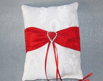 Ring pillow red with Rhinestone
