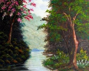 "Pantanal, Brasil 32""x24"".Oil in canvas"
