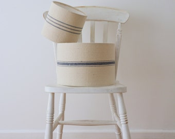 Grain Sack Lampshade - 20cm -  BLUE only