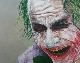 Portrait of Heath Ledger as the Joker. 2016.