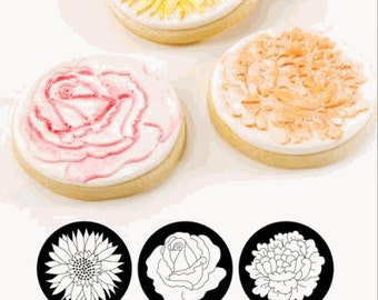Floral Cupcake and Cookie Texture Tops