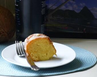 Large St. Bacardi Rum Cake