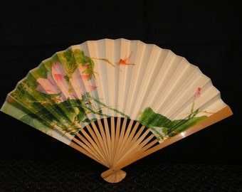 Asian paper and wood fan