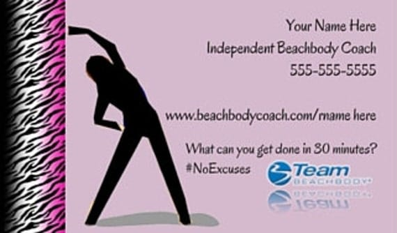 Beachbody Business Card PRINTED Printed by LoveLiPrintables