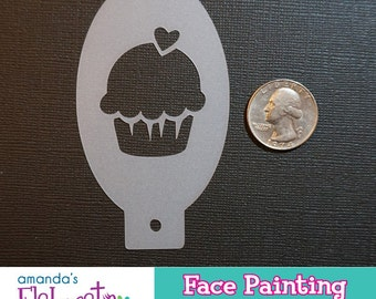 CUPCAKE - Face Painting Stencil (Mini)