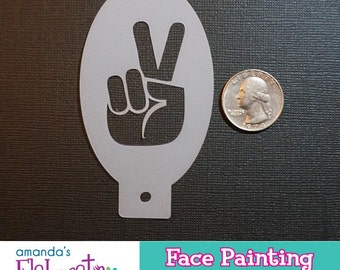 PEACE HAND - Face Painting Stencil (Mini)