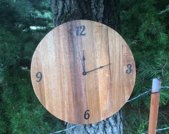 Rustic Round Clock