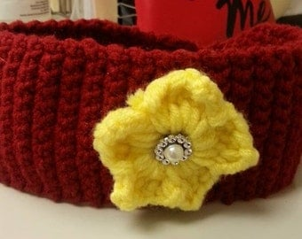 Headwarmer with Flower