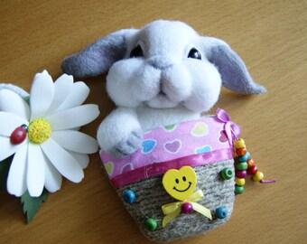 Baby rabbit-Needle felted rabbit-Rabbit.