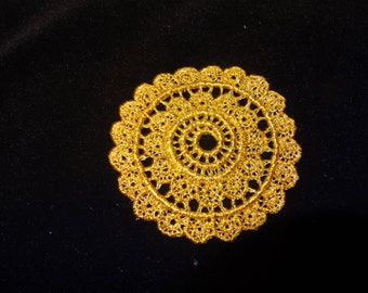 Gold Venise Lace Medallions - Lot of 6