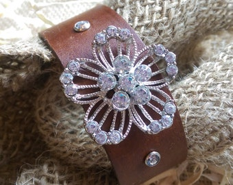 Beautiful Leather Cuff Bracelet