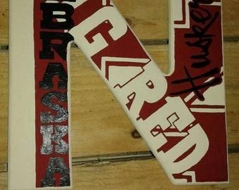 """12"""" wood letter N"""