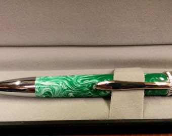 Deluxe chrome pen, Handmade pen , father's day
