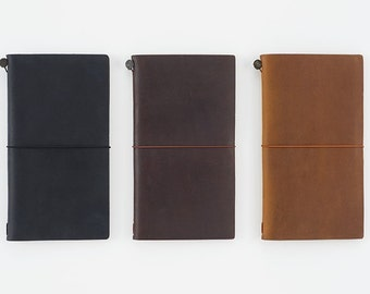 Travelers Notebook - Regular Size (Black, Brown and Camel)