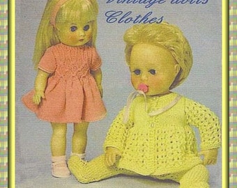 Knitting Pattern For Tiny Tears Doll : Dollyknitts by Dollyknitts on Etsy