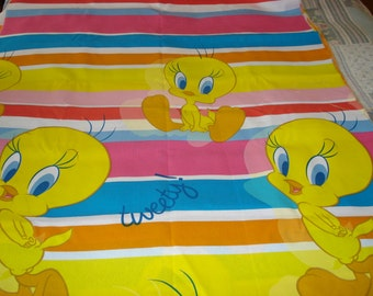 Fabric Tweety / tweety stripes