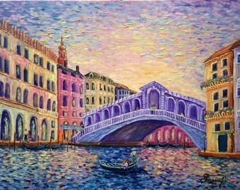 Venice. The Rialto bridge