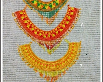 Handmade Mexican Huichol Goddess Aztec tribal  Beaded Necklaces