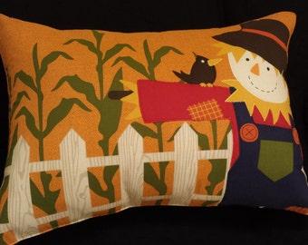 Autumn Scarecrow Throw Pillow