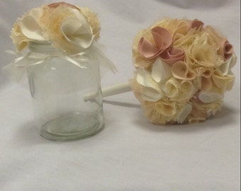 Small jar table centrepiece