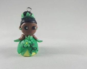Princess Tiana polymer clay figurine