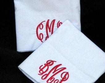 Monogram white Pillow case