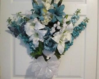 Blue Spring Wreath