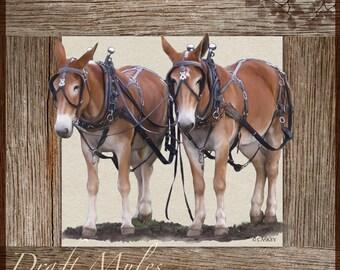 Sorrel Draft Mules Decorator Print