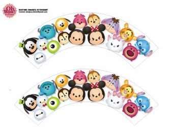Tsum Tsum Cupcake Wrappers Digital File