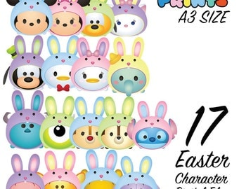 17 Tsum Tsum Character - Easter Edition Digital Large Print Files