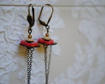 Flat Flower Earrings