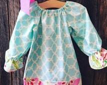 On Sale Baby Girl Peasant Dress - Baby Girl Easter Dress - Girls Easter Dress