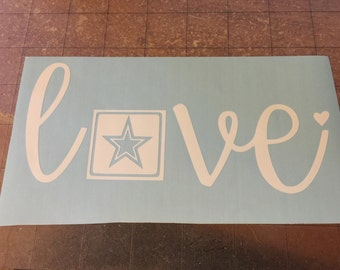 Army Love Decal/Armed Services/Military Support/Soldier Wife/Army Strong