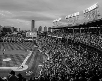 Wrigley Field, Cubs Fans, Cubs Prints, Chicago Cubs, Baseball Art, Baseball Fans, Custom Framing, Canvas Wraps, Chicago, Chicago Baseball
