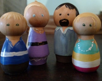 Family Wooden Pegs