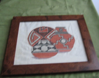 cross stitch picture complete
