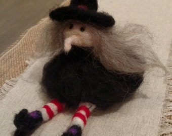 Needle Felted Wool Witch