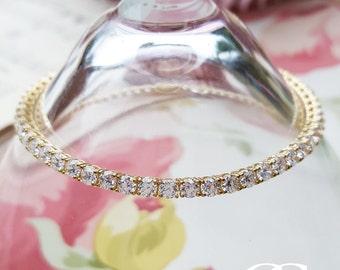 "9ct Yellow Gold Tennis Bracelet 7.5"" 3mm"