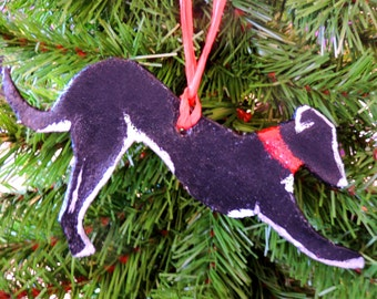 Greyhound / Whippet Playful/Stretching/Yoga Silhouette  - Hanging Decoration