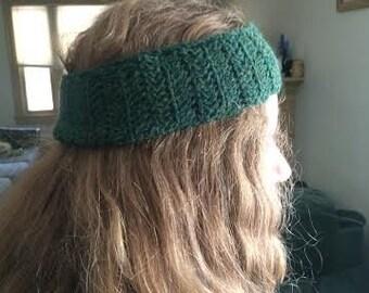 Forest Green Crochet Headband