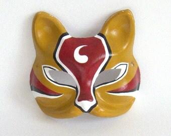 Deep Ochre Fox Opera Mask